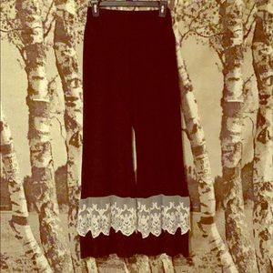 Black Flair pants with lace